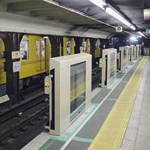 銀座線浅草駅にホームドア設置開始