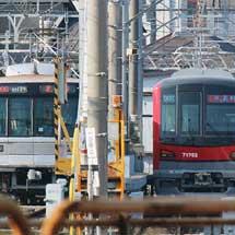 東武70000系71702編成がメトロ竹ノ塚車両基地へ