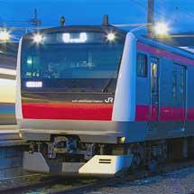 E233系ケヨ520編成が長野総合車両センターへ