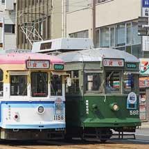 広電で神戸市交通局開局100周年記念団体列車運転