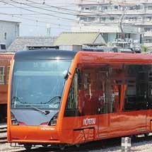 伊予鉄道5000形が古町車両工場に搬入される