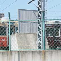 阪急7000系7016編成が阪神尼崎車庫に