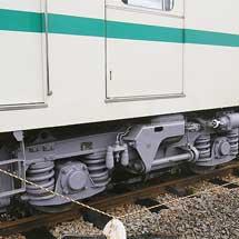 叡山電鉄デオ711の台車が交換される
