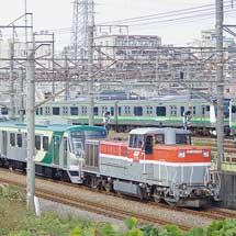 東急7000系6両が甲種輸送される