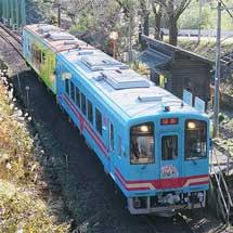 樽見鉄道で『富有柿列車』運転
