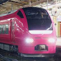 E653系1000番台U107編成がハマナス色に