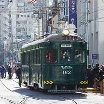 阪堺 モ161形全車両が正月運用に充当される