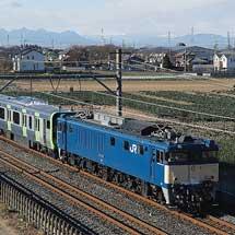 E235系トウ14編成が配給輸送される